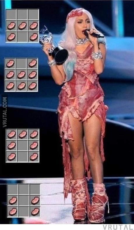 Vrutal Lady Gaga Y La Verdad De Cómo Hizo Su Vestido De