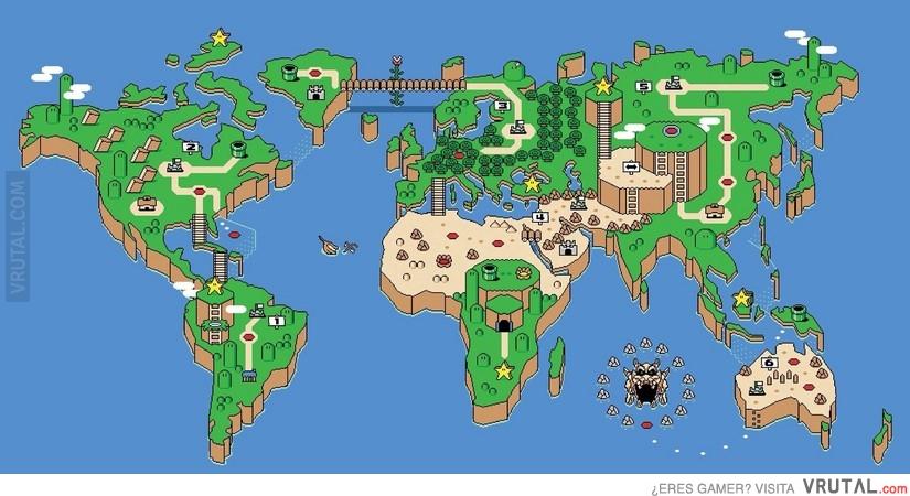 Vrutal El Mapa Del Mundo Real A Lo Mario World
