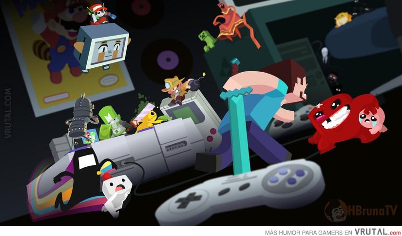 Vrutal Guerra Entre Personajes De Juegos Indie Cuantos Reconoces