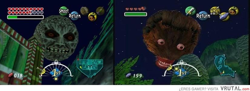 Viñetas comicas sobre videojuegos. VRU_24327_la_luna_del_majora_s_mask_original_vs_la_del_remake