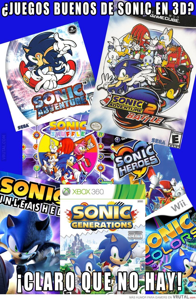 juegos sonic 3d:
