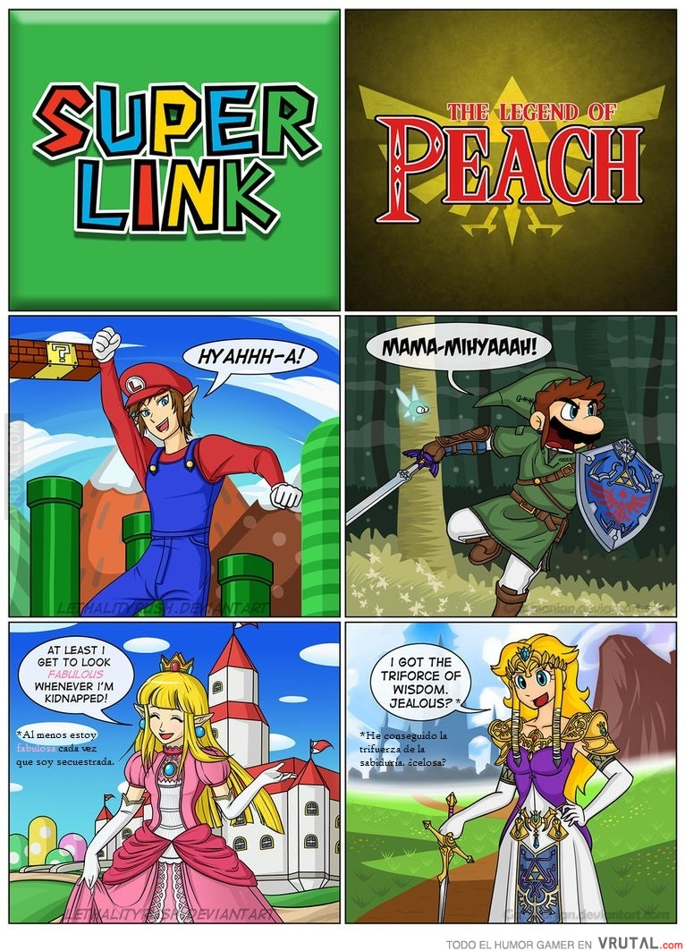 Vrutal Si Los Dos Heroes Mas Famosos De Nintendo Y Sus Princesas