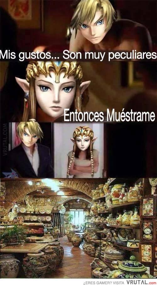 Zelda teniendo un orgasmo
