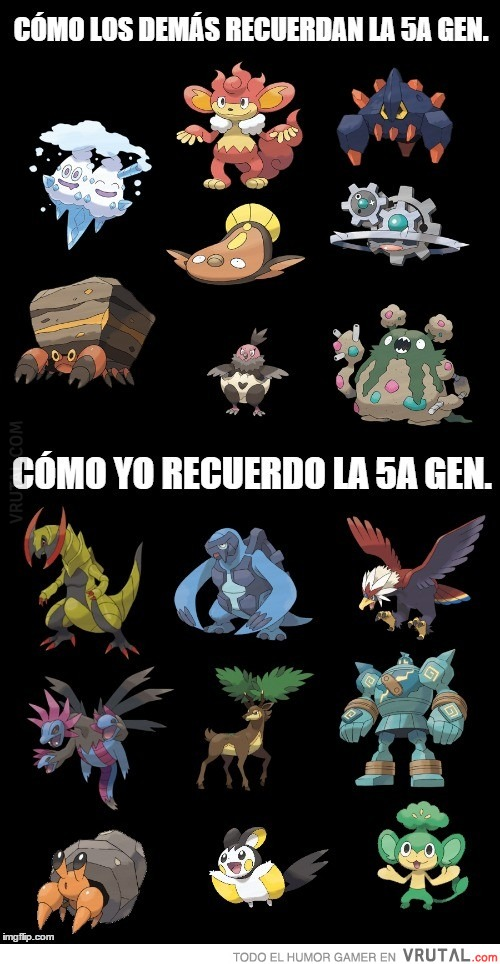 VRUTAL / Cuando recuerdas la 5a generación Pokémon...