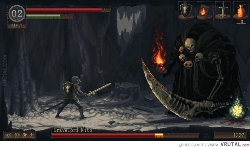 VRUTAL / Dark Souls en 16 bit parece otra cosa