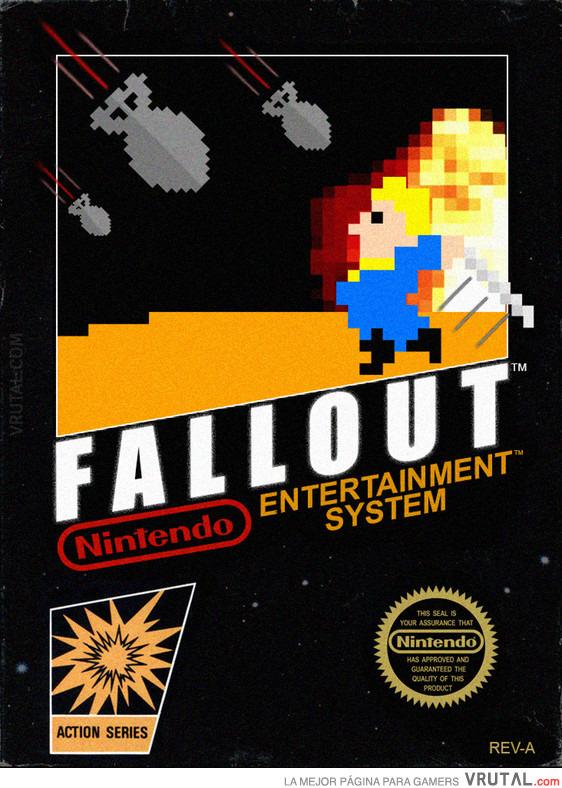 Vrutal La Portada De Fallout Si Hubiese Sido Un Juego De Nes