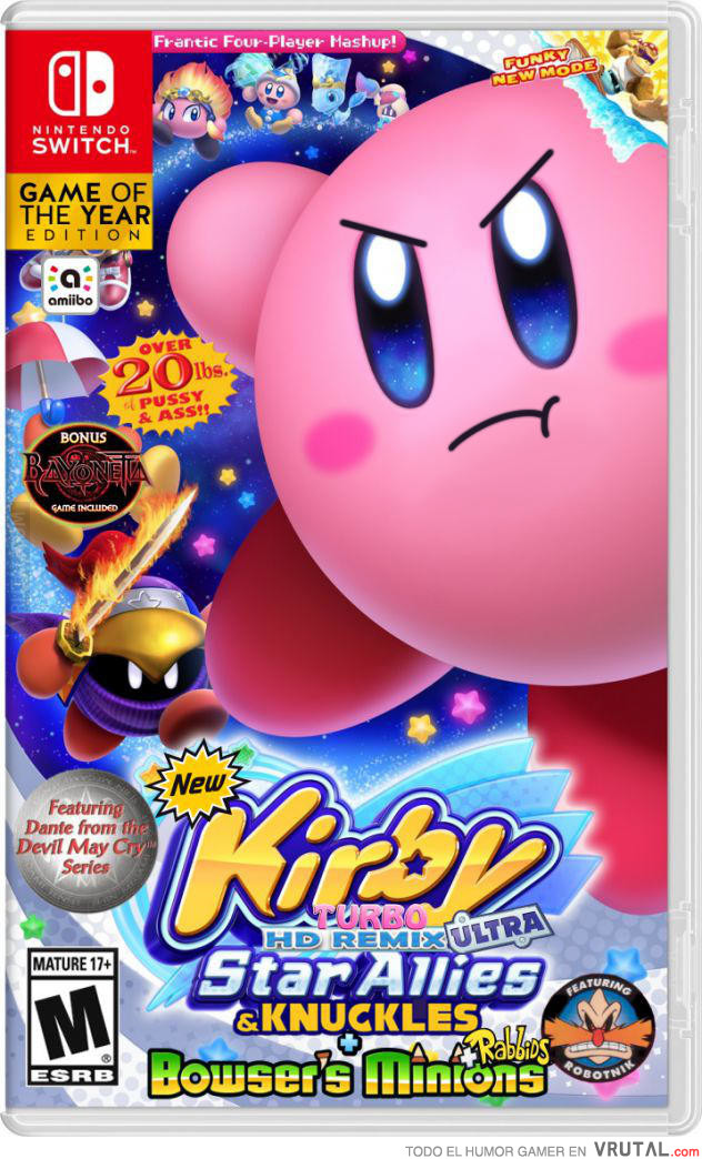 Vrutal Filtrada La Portada Del Nuevo Juego De Kirby Para Switch