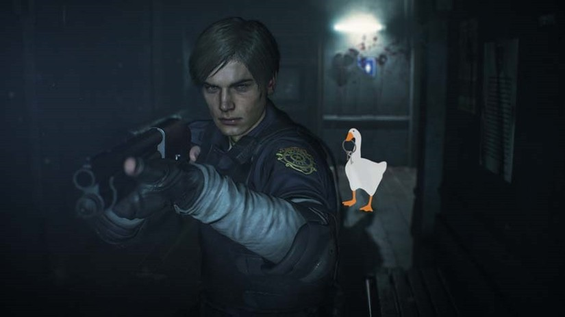Un mod de Resident Evil 2 Remake introduce al ganso de Untitled Goose Game como Mr. X
