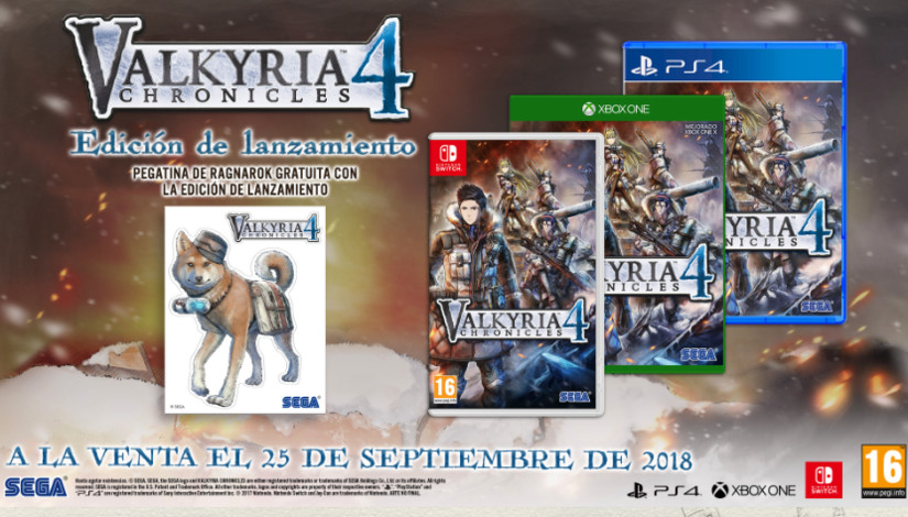 Comparan los gráficos de Valkyria Chronicles 4 en PS4 y Nintendo Switch