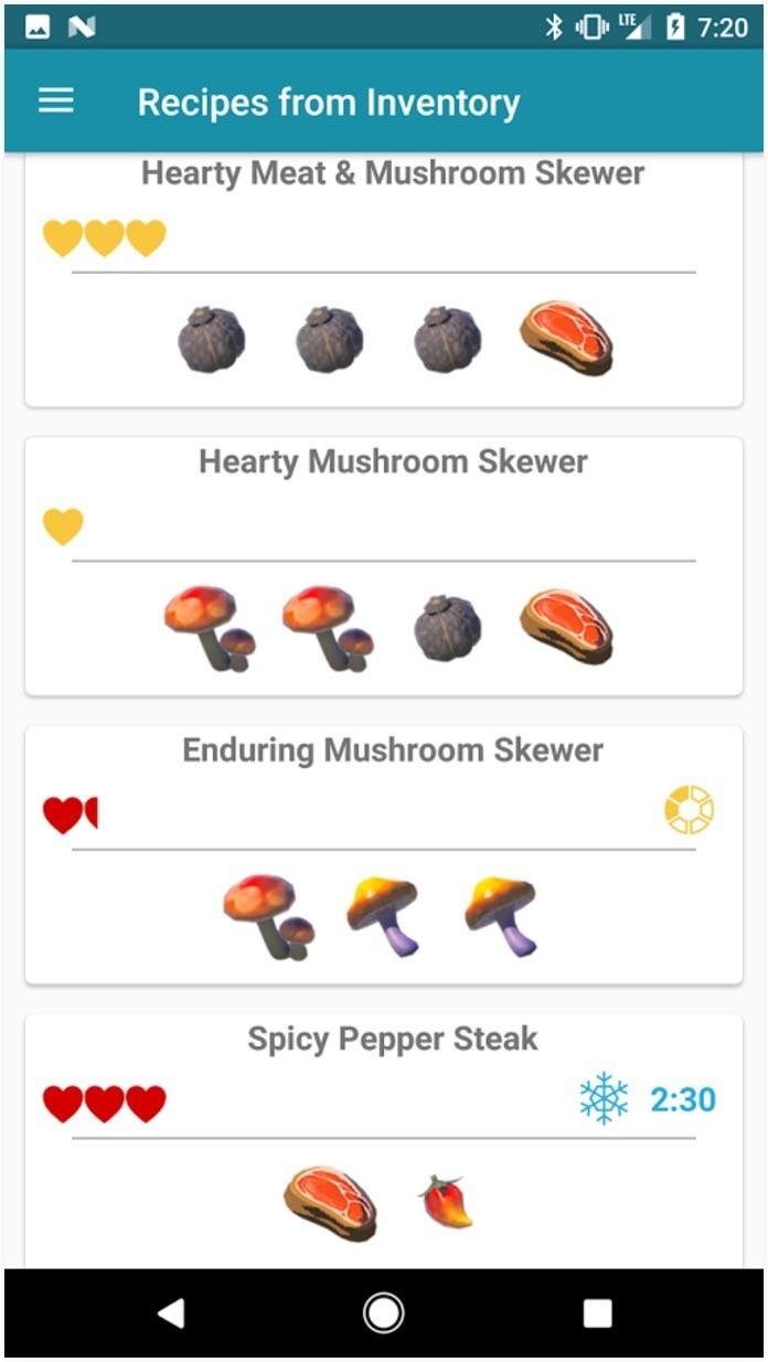 Vrutal con esta app ya puedes consultar todas las for Cocinar zelda
