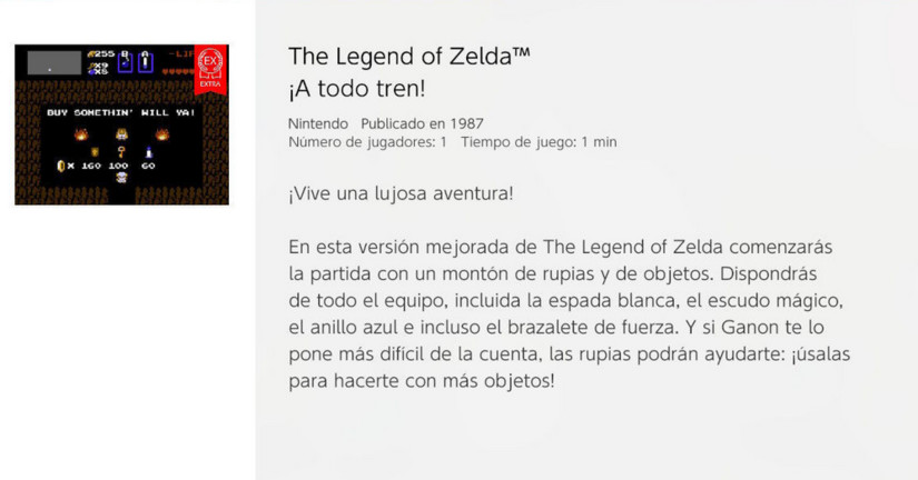 Nintendo acaba de relanzar The Legend of Zelda para la Switch