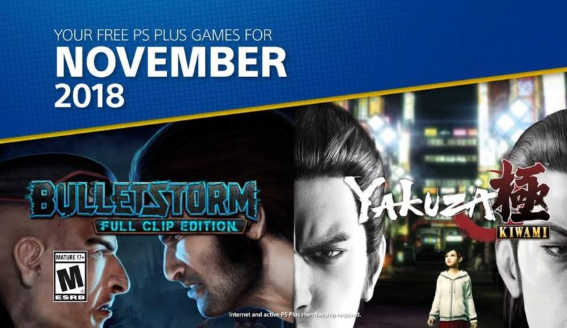 Yakuza Kiwami y Bulletstorm entre los juegos de PS Plus de noviembre