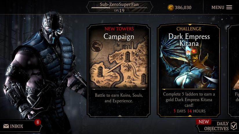 VRUTAL / Mortal Kombat Mobile lanza personajes de MK11 en la