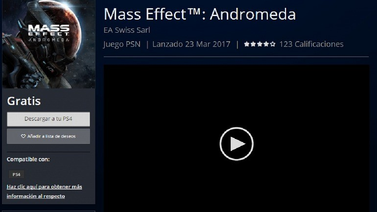 Vrutal Descarga Gratis Mass Effect Andromeda Para Playstation 4