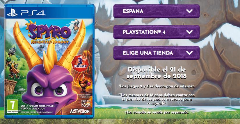 Se revelo el contenido de versión física de Spyro: Reignited Trilogy